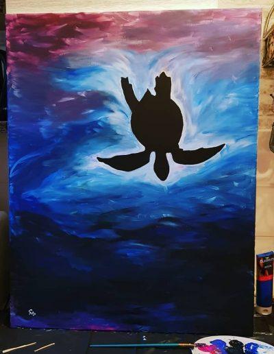 Acrylverf schilderij