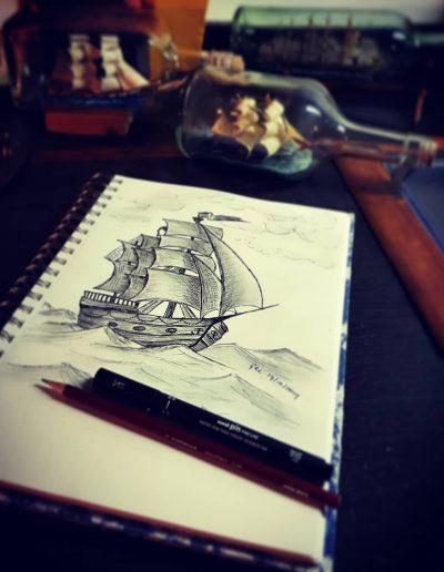Gastenboek tekening