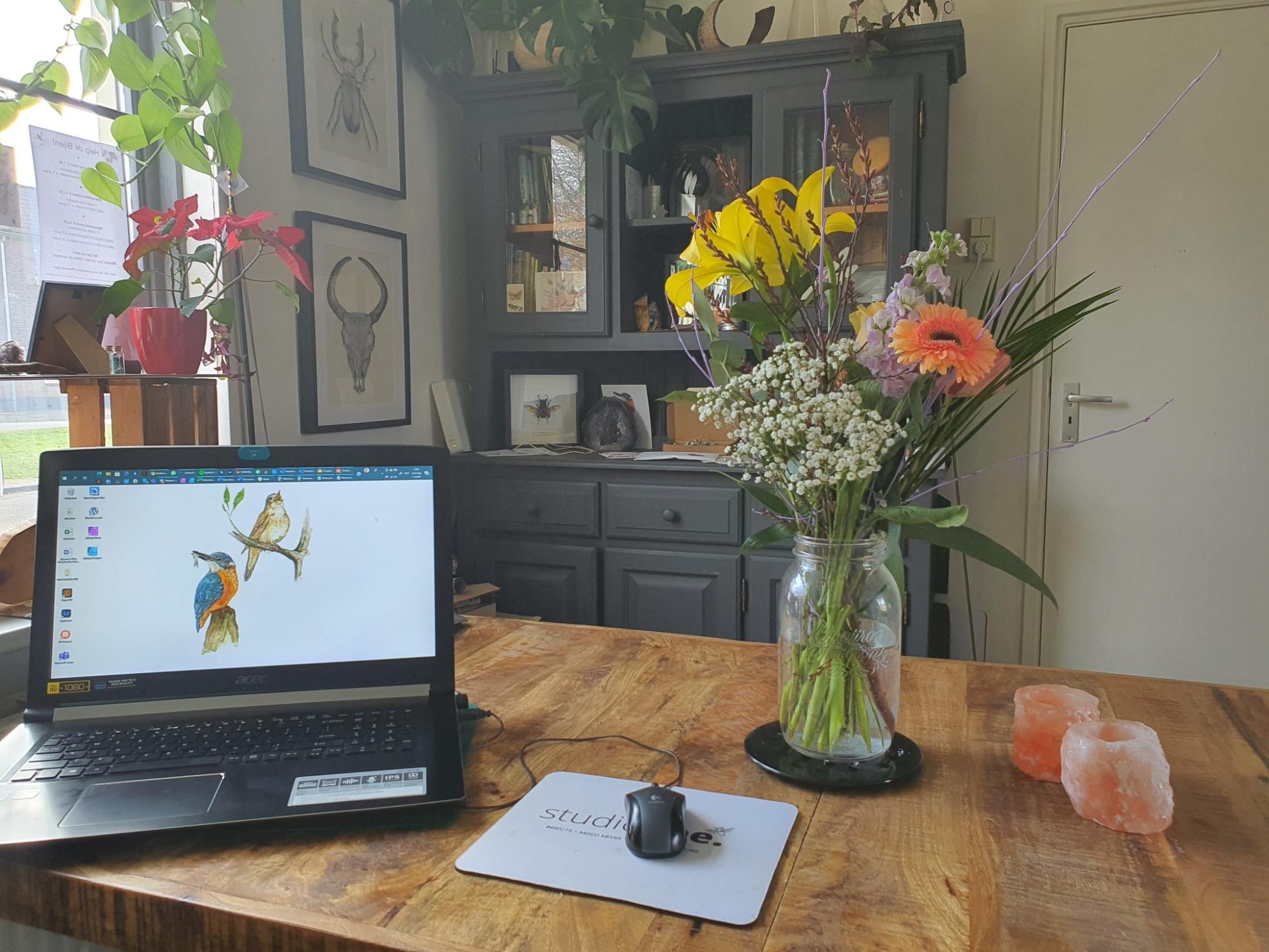 thuisatelier thuisstudio studio gee laptop