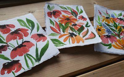 aquarel veldbloemen schilderen (timelapse)