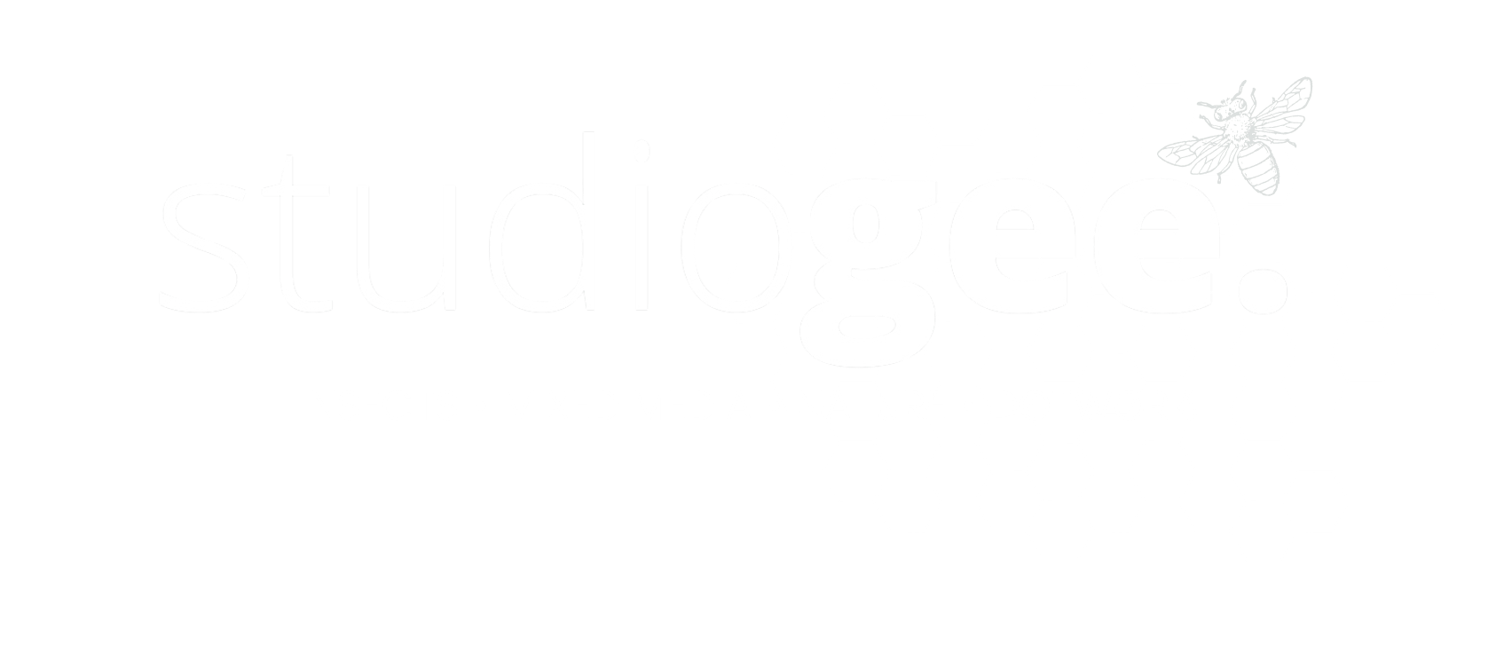 Logo studio gee transparant