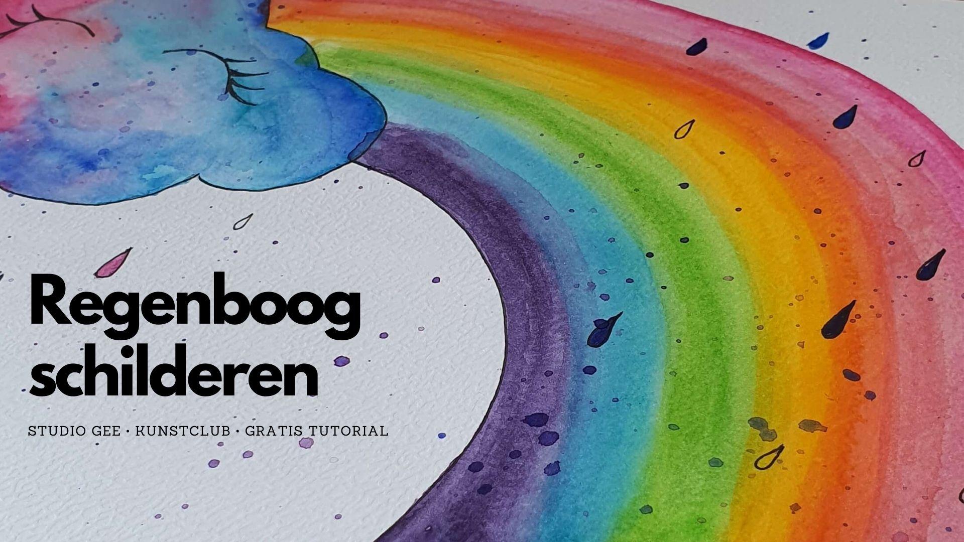Video cover regenbood schilderen