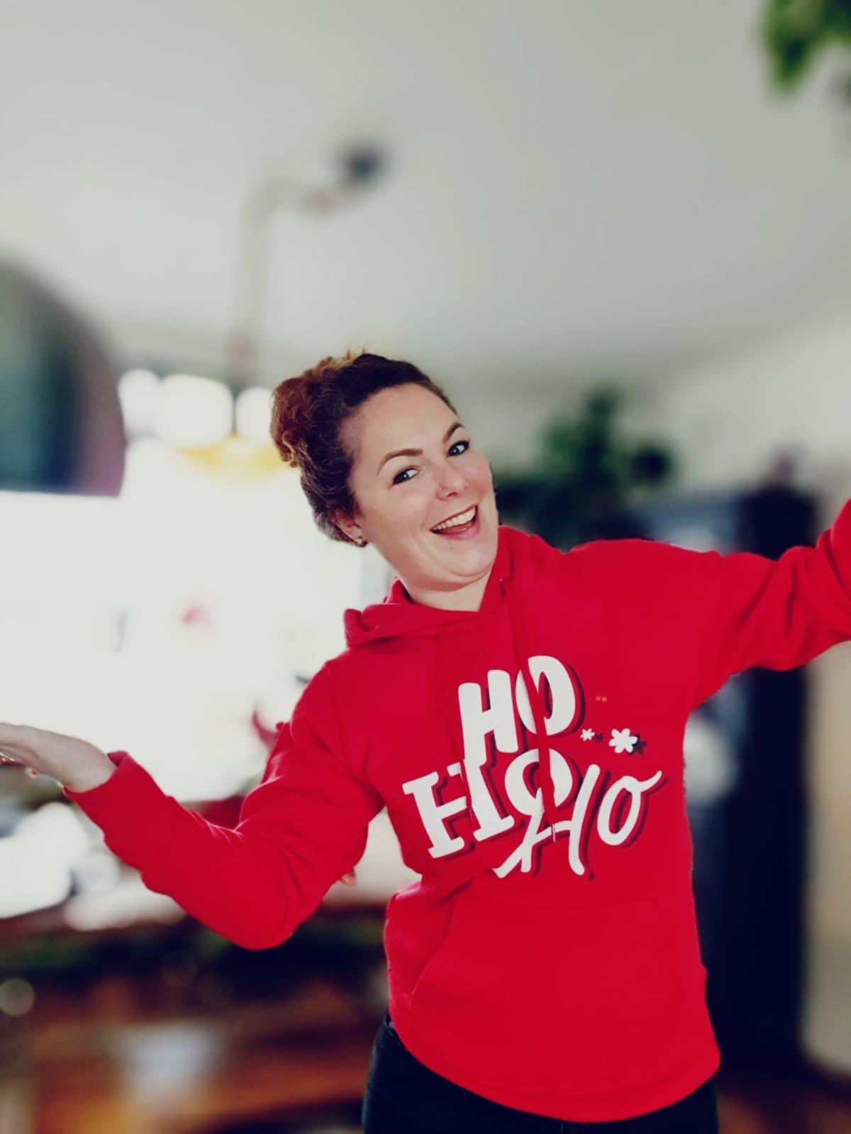 Gee sweatshirt hoody rood tekst gewonnen drukwerkdeal